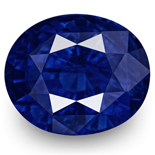GRS Certified Sri Lanka Blue Sapphire, 5.51 Carats, Rich Intense Royal Blue
