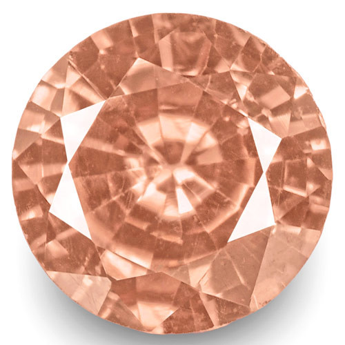 GRS Certified Madagascar Padparadscha Sapphire, 0.29 Carats, Round