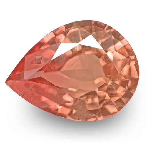 GRS Certified Madagascar Padparadscha Sapphire, 0.30 Carats, Orangy Pink