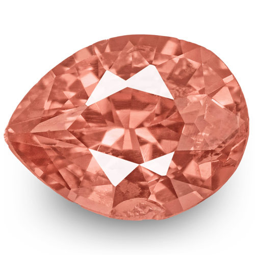 GRS Certified Madagascar Padparadscha Sapphire, 0.33 Carats, Pear