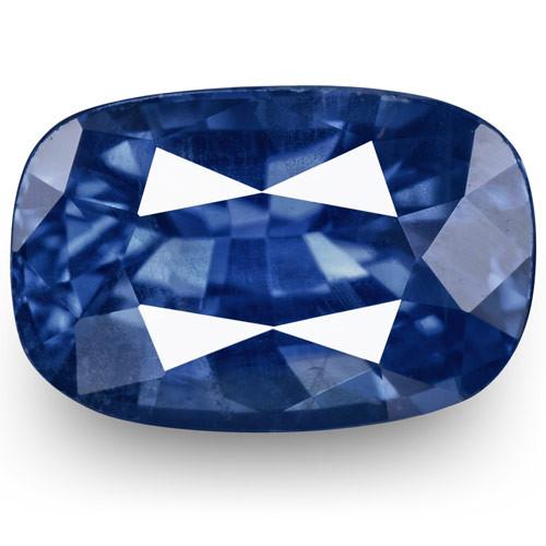 IGI Certified Burma Blue Sapphire, 1.74 Carats, Lustrous Intense Blue