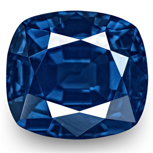 GRS Certified Nigeria Blue Sapphire, 1.87 Carats, Vivid Royal Blue Cushion