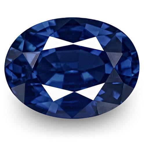 IGI Certified Burma Blue Sapphire, 0.82 Carats, Lively Royal Blue Oval