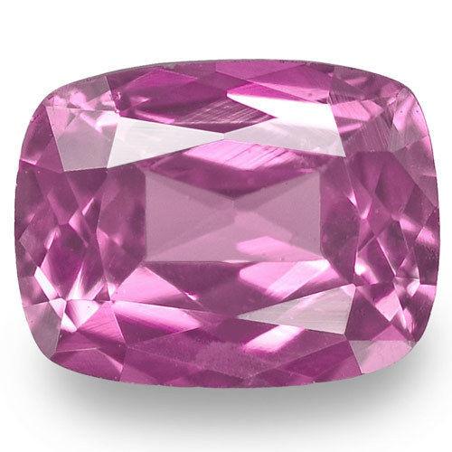 Madagascar Pink Sapphire, 0.62 Carats, Pink Cushion