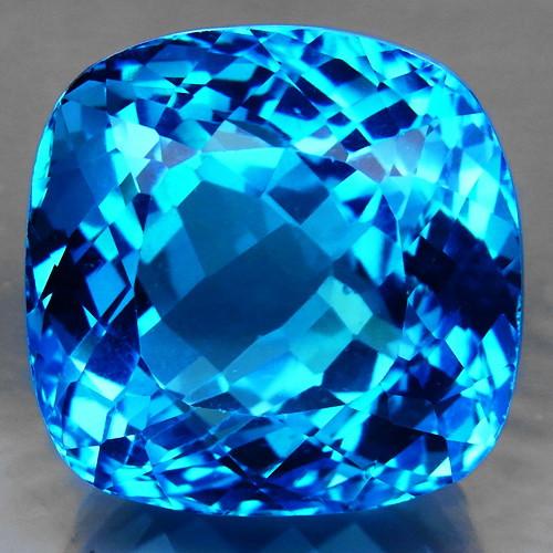 73.56 ct. 100% Natural Swiss Blue Topaz Top Quality Gemstone Brazil