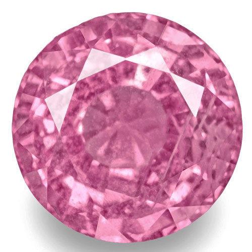 Madagascar Pink Sapphire, 1.24 Carats, Pink Round