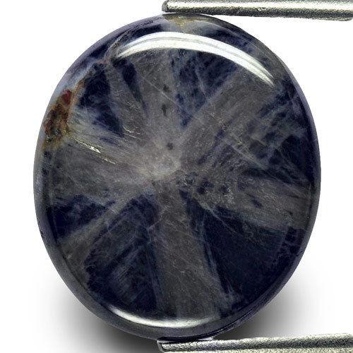 Burma Trapiche Sapphire, 13.28 Carats, Blue Oval