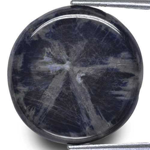 Burma Trapiche Sapphire, 21.44 Carats, Blue Oval