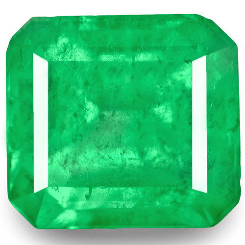 Colombia Emerald, 2.07 Carats, Green Emerald Cut