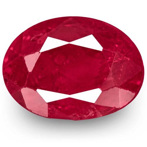 IGI Certified Burma Ruby, 2.23 Carats, Velvety Pinkish Red Oval