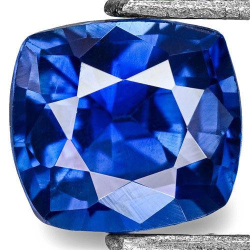 Madagascar Blue Sapphire, 0.44 Carats, Blue Cushion