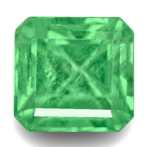 Colombia Emerald, 0.61 Carats, Green Emerald Cut