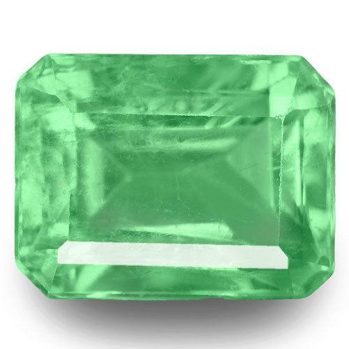 Colombia Emerald, 0.57 Carats, Green Emerald Cut