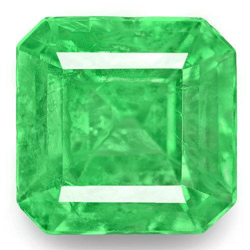 Colombia Emerald, 0.83 Carats, Green Emerald Cut