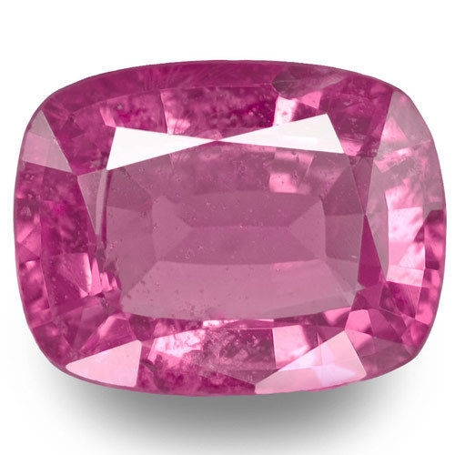 Madagascar Pink Sapphire, 1.47 Carats, Pink Cushion