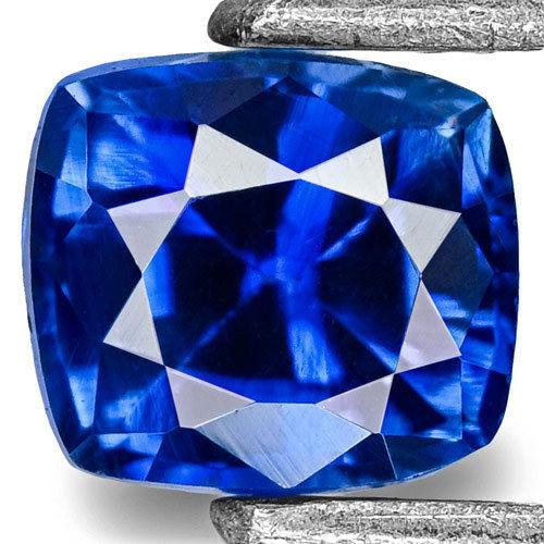 Madagascar Blue Sapphire, 0.41 Carats, Blue Cushion