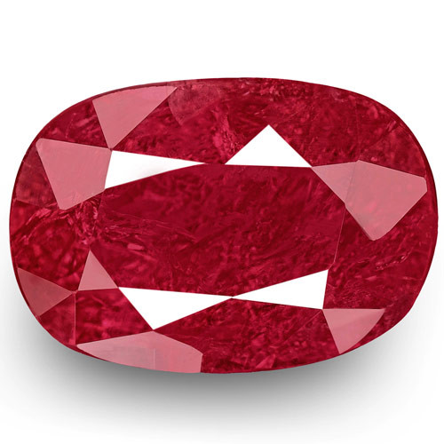 Mozambique Ruby, 1.28 Carats, Deep Pinkish Red Oval