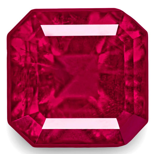 GRS Certified United States Bixbite, 0.69 Carats, Fiery Rich Pinkish Red