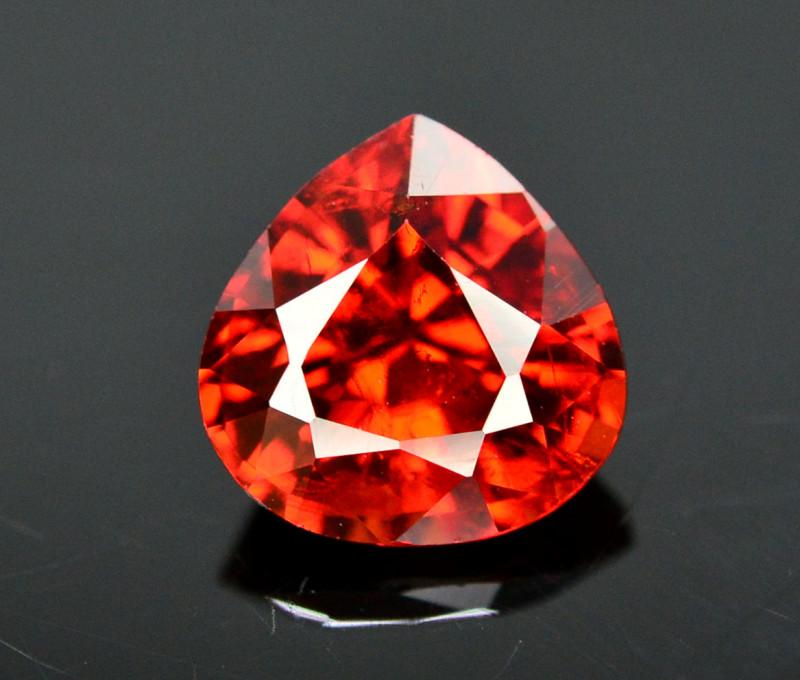 Reddish Orange Color 1.60 Ct Natural Spessartite Garnet. RA