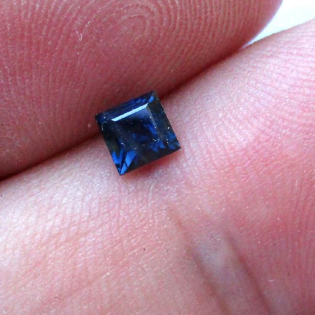 0.47cts Natural Australian Blue Sapphire Square Cut
