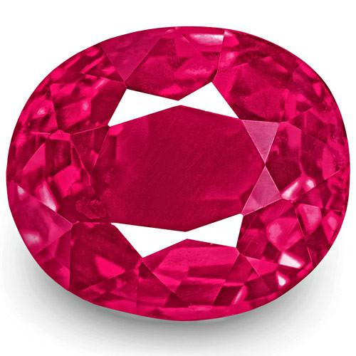 IGI Certified Burma Ruby, 1.17 Carats, Bright Pinkish Red Oval