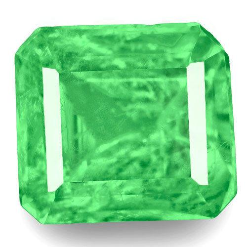 Colombia Emerald, 0.92 Carats, Green Emerald Cut