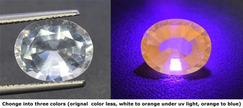 6.50 cts Rare Tenebrescent Scapolite Gemstone