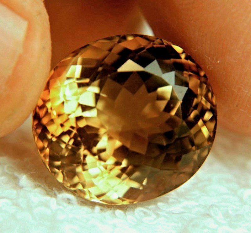 38.46 Ct. Golden Brown Brazil VVS1 Topaz - Superb