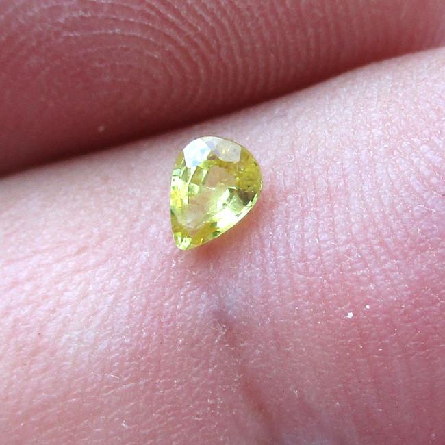 0.20cts Natural Australian Yellow Sapphire  Pear Shape