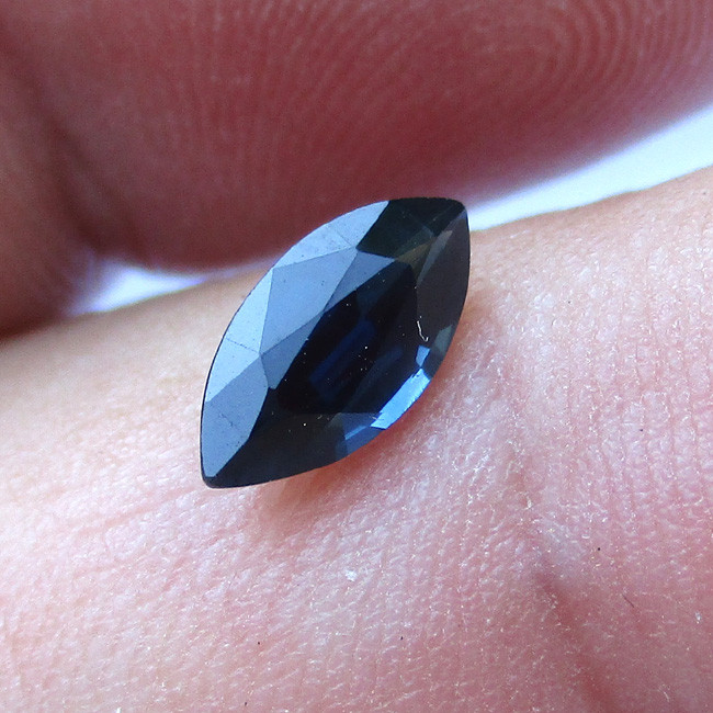 0.88cts Natural Australian Blue Sapphire Marquise Shape