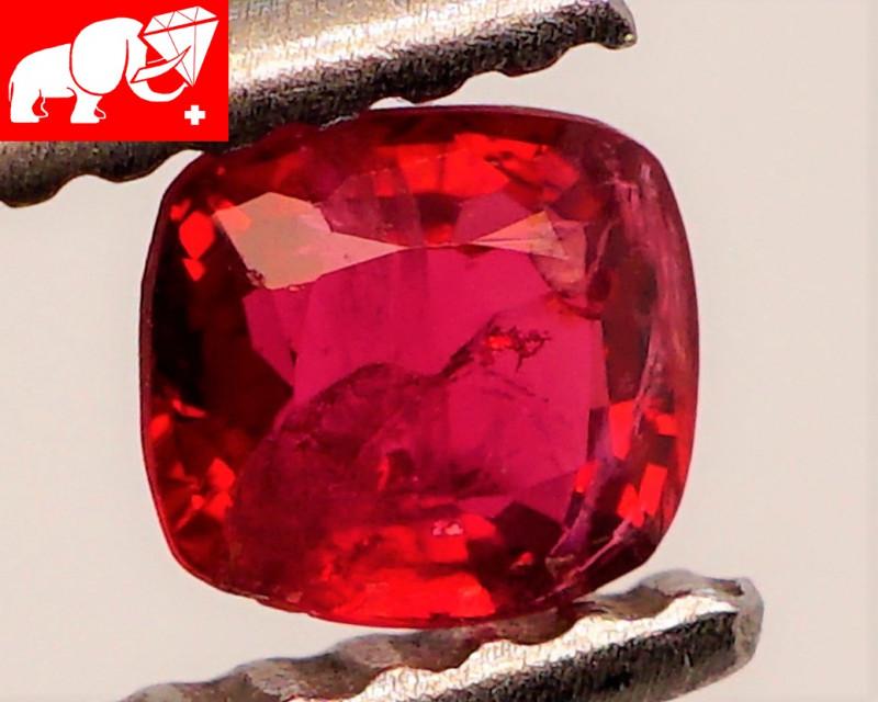 JEDI! GLOWING VIVID COLOR! Unheated 0.39 CT JEDI RED Spinel $575 (Burma)