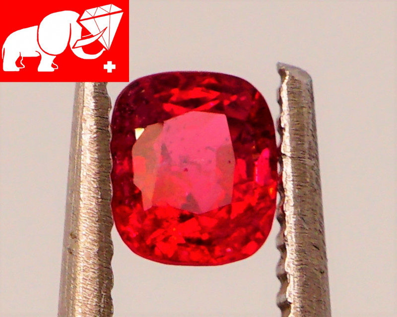 JEDI! GLOWING VIVID COLOR! Unheated 0.64 CT JEDI RED Spinel $1,300 (Burma)