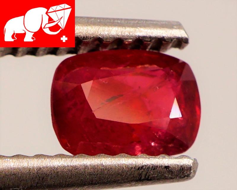 JEDI! GLOWING VIVID COLOR! Unheated 0.69 CT JEDI RED Spinel $500 (Burma)