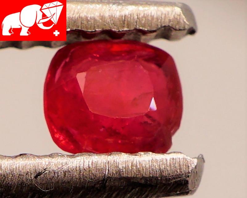 JEDI! GLOWING VIVID COLOR! Unheated 0.22 CT JEDI RED Spinel $220 (Burma)