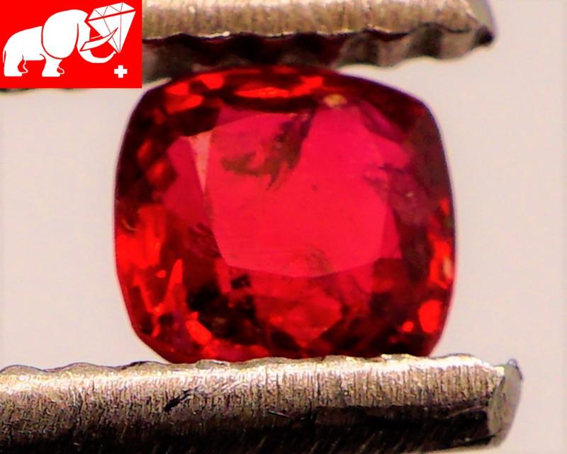 JEDI! GLOWING VIVID COLOR! Unheated 0.43 CT JEDI RED Spinel $1,900 (Burma)