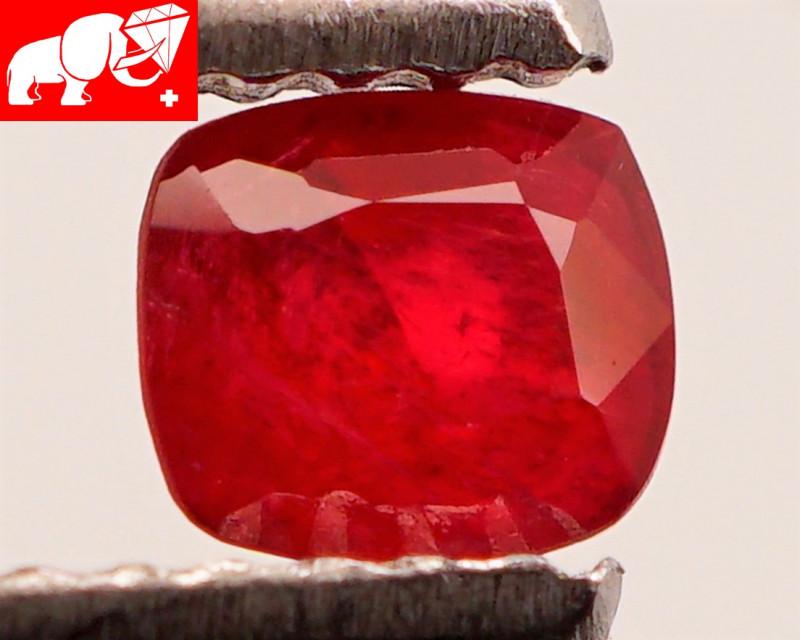 JEDI! GLOWING VIVID COLOR! Unheated 0.48 CT JEDI RED Spinel $495 (Burma)