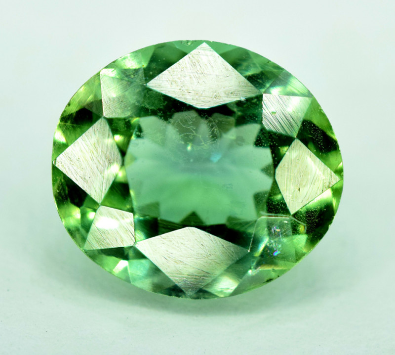 2.50 Carats NATURAL APATTIE - YELLOW GREEN BRILLIANCE