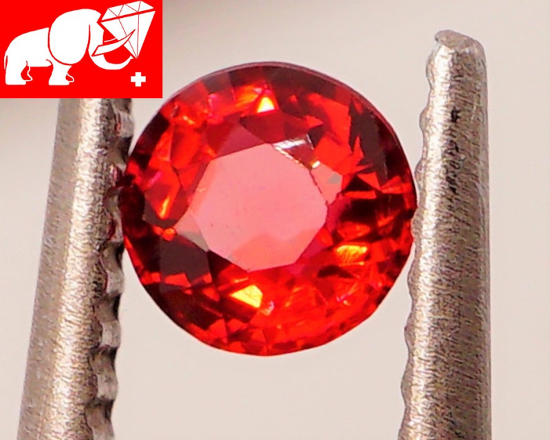 JEDI! VVS! TOP VIVID COLOR! Unheated  0.42 CT Red Spinel (Mogok, Burma)