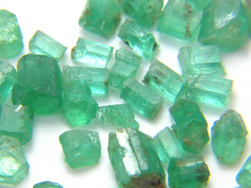 50Ct Natural Emerald Facet Rough Parcel