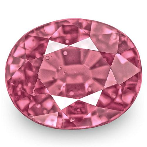 IGI Certified Sri Lanka Spinel, 3.71 Carats, Lustrous Purplish Pink Oval