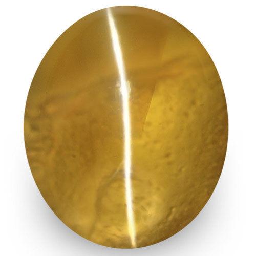 IGI Certified Sri Lanka Chrysoberyl Cat's Eye, 1.61 Carats, Golden Brown