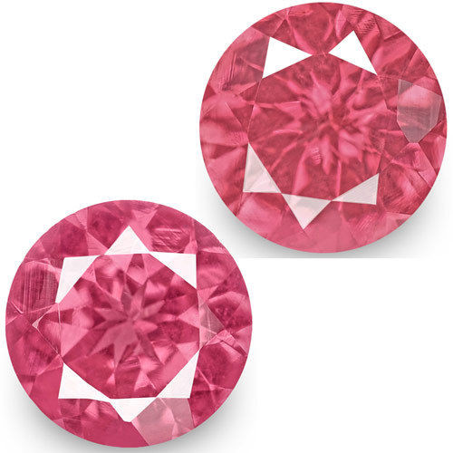 IGI Certified Tanzania Spinels, 1.24 Carats, Hot Pink Round