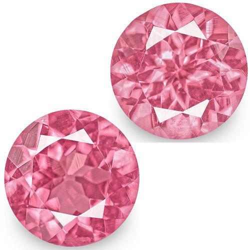 IGI Certified Tanzania Spinels, 1.17 Carats, Bright Pink Round