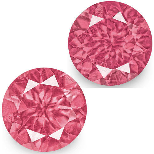 IGI Certified Tanzania Spinels, 1.38 Carats, Hot Pink Round