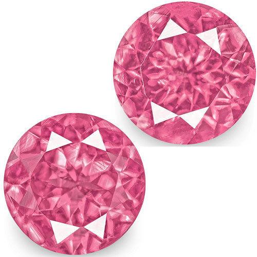 IGI Certified Tanzania Spinels, 1.31 Carats, Bright Pink Round