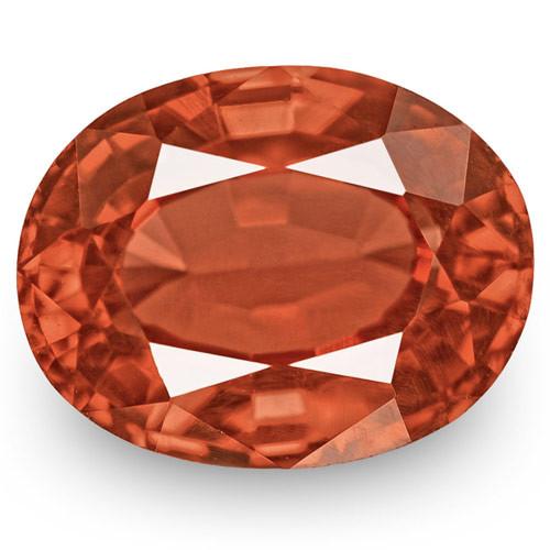 IGI Certified Burma Spinel, 2.01 Carats, Intense Brownish Orange Oval