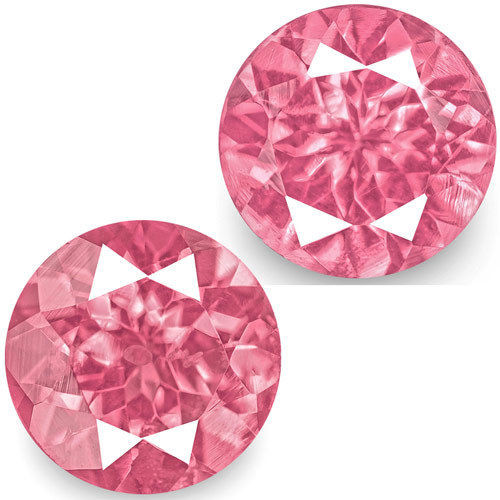 IGI Certified Tanzania Spinels, 1.40 Carats, Bright Pink Round