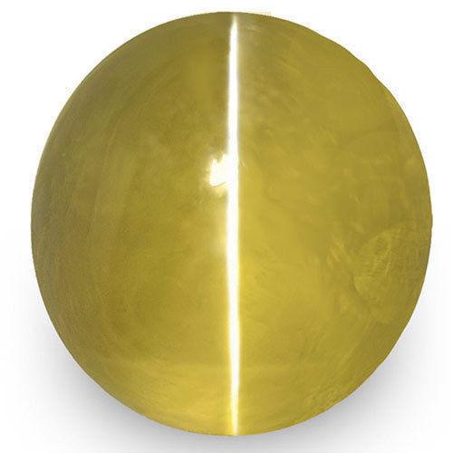 IGI Certified Sri Lanka Chrysoberyl Cat's Eye, 1.99 Carats, Intense Yellow