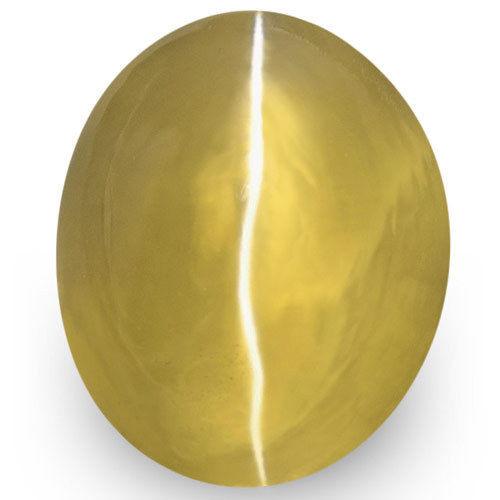 IGI Certified Sri Lanka Chrysoberyl Cat's Eye, 2.13 Carats, Golden Brown