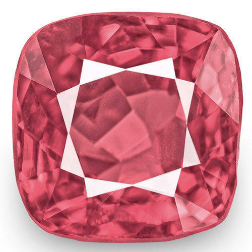 IGI Certified Burma Spinel, 0.90 Carats, Deep Pink Cushion